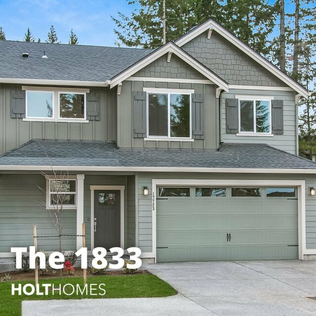 The many faces of the 1833 😎. Scroll through to see more. See the inside at the link in bio.  Bedrooms: 3 Baths: 2.5 Square Feet: 1833 Garages:2 Stories:2 Features: ✔️Covered entry ✔️Eating bar ✔️Great room ✔️Open floor plan ✔️Optional covered patio ✔️Walk in closet ✔️Walk in pantry ✔️ & more!  