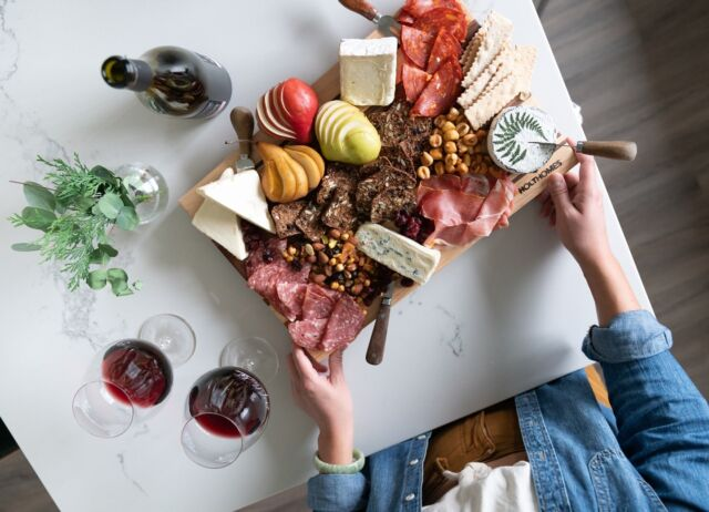 A little spring charcuterie collab with our local friends at @etfillewines and @cronen_building_co cutting boards. #localbusinesses 🍷   Our Yamhill County community is coming soon - learn more at the link in bio. 