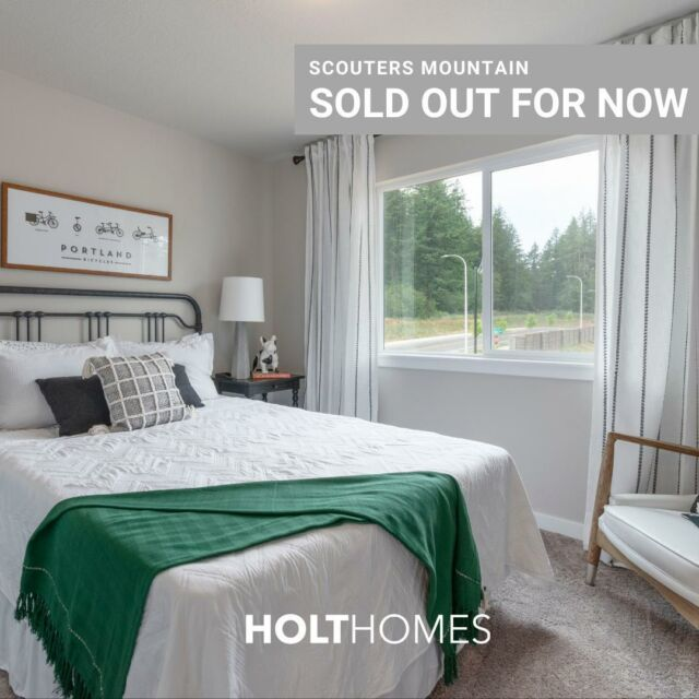 Our beautiful Happy Valley community at Scouters Mountain is sold out for now. But stay tuned for an announcement later this year.🤫 In the meantime, check out Pleasant Valley Villages or Towns at Crossroads also in Happy Valley! Link in bio. 