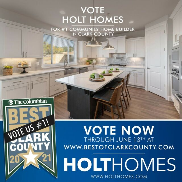 Dear community, thank you so much for helping nominate us! Now let's take it across the finish line! Vote us #1 Community Home Builder now until June 13th.   See the link in bio or visit BestOfClarkCounty.com to send in your vote. 🥇