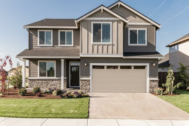 The many faces of the 2628 😎 - currently available in our Hearth at Millican Creek community. See the inside of this plan at the link in bio.  Bedrooms: 3 Baths: 2.5 Square Feet: 2628 Garages:2 Stories:2 Features: ✔️Great room ✔️Large utility room ✔️Optional covered patio ✔️Soaking tub ✔️Walk in master closet ✔️ & more!